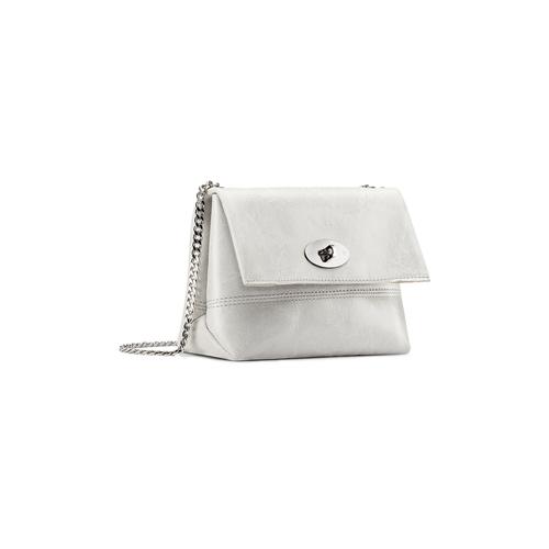 Minibag in vera pelle bata, bianco, 964-1249 - 13