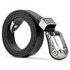 Cintura in vera pelle bata, nero, 954-6136 - 26