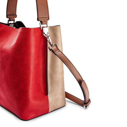 Borsa bicolore bata, rosso, 961-5173 - 15
