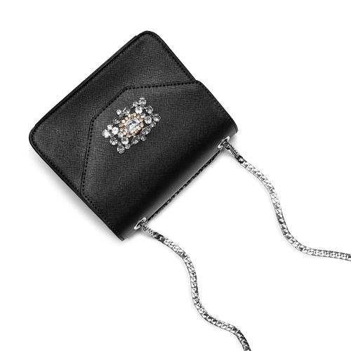 Borsa elegante con applicazioni bata, nero, 961-6249 - 17