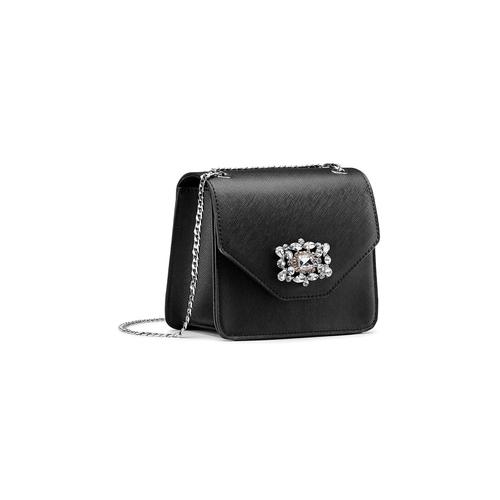 Borsa elegante con applicazioni bata, nero, 961-6249 - 13