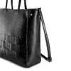 Shopper con intreccio bata, nero, 961-6236 - 15