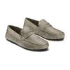 Mocassini in suede bata, grigio, 853-2180 - 16