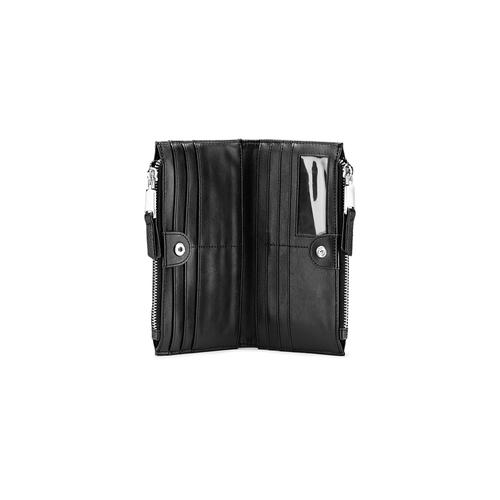 Portafoglio con tasca frontale bata, nero, 941-6168 - 16