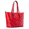 Shopper con trafori bata, rosso, 961-5220 - 13