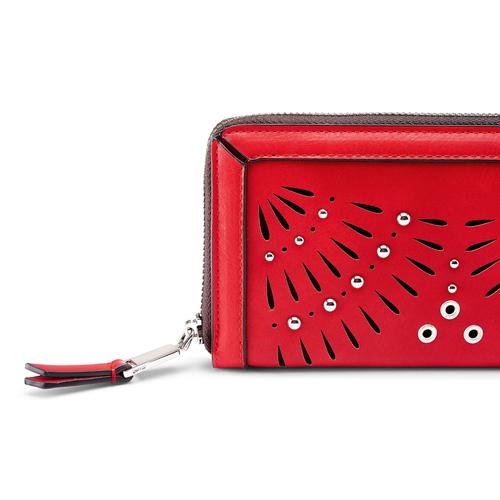 Portafoglio da donna bata, rosso, 941-5164 - 15