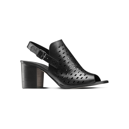 Sandali in pelle bata, nero, 764-6161 - 13
