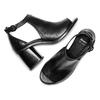 Sandali in pelle bata, nero, 724-6297 - 26
