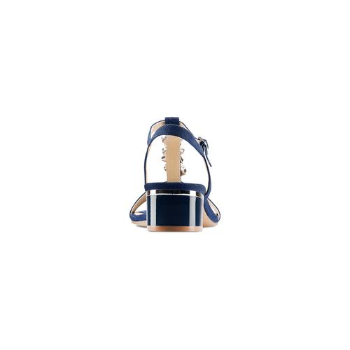 Sandali con tacco basso insolia, blu, 669-9131 - 15