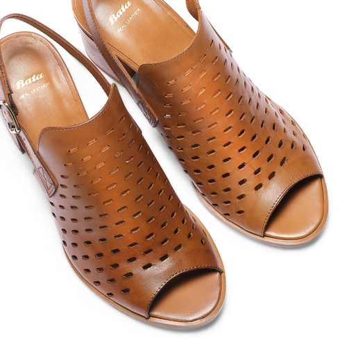 Sandali in pelle  bata, marrone, 764-3161 - 26