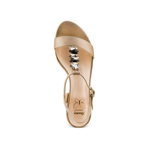 Sandali con tacco basso insolia, beige, 661-8131 - 17