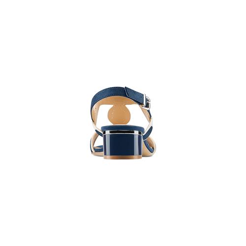 Sandali con tacco basso insolia, blu, 669-9297 - 15