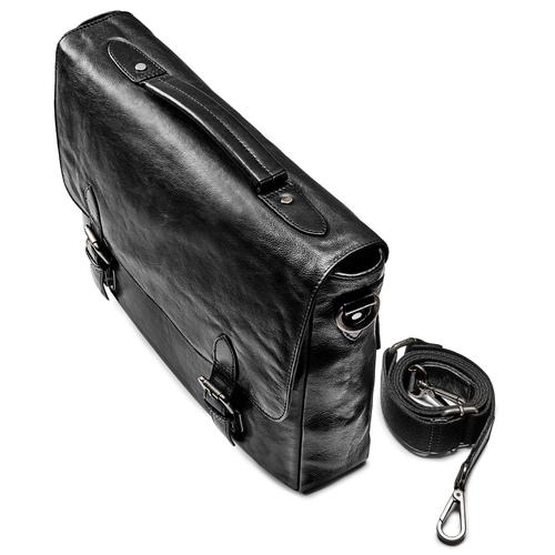 Borsa da lavoro in pelle bata, nero, 964-6255 - 17