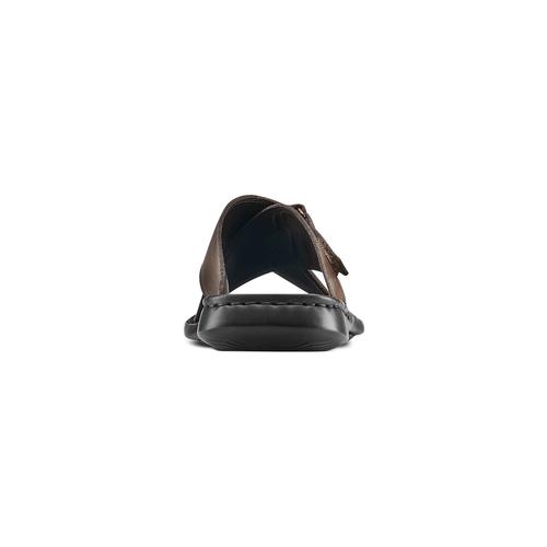 Ciabatte da uomo bata-comfit, marrone, 874-4265 - 15
