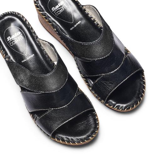 Ciabatte Comfit bata-comfit, nero, 774-6108 - 26