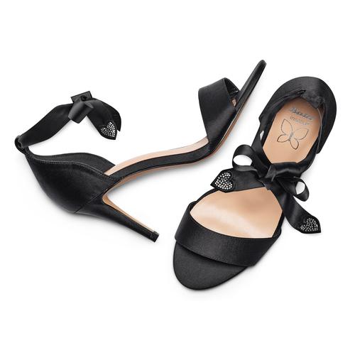Sandali con fiocco insolia, nero, 769-6285 - 26