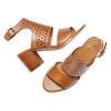 Sandali in pelle bata, marrone, 764-3159 - 26
