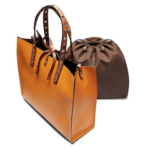 Shopper rigida bata, marrone, 961-3296 - 17