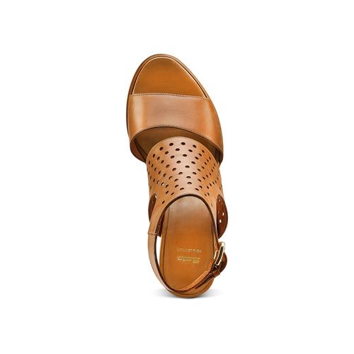 Sandali in pelle bata, marrone, 764-3159 - 17