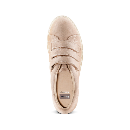Sneakers in suede bata, rosa, 543-5401 - 17