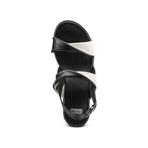 Sandali con zeppa bata, nero, 661-6282 - 17