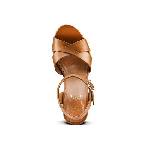 Sandali con tacco alto insolia, marrone, 761-3254 - 17