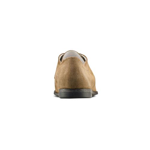 Stringate in pelle bata, marrone, beige, 853-2160 - 15