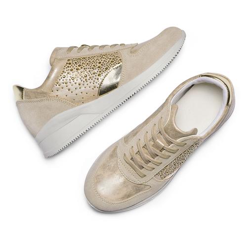 Sneakers Casual bata, beige, 523-8459 - 26