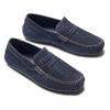 Mocassini in suede bata, blu, 853-9171 - 26
