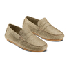 Mocassini in suede bata, beige, 853-8171 - 16