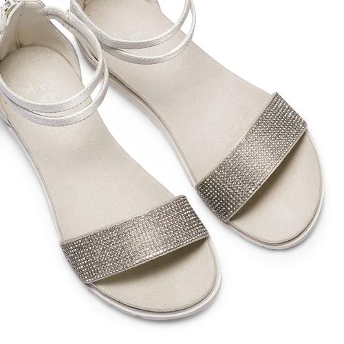 Sandali con strass mini-b, argento, 361-1166 - 26