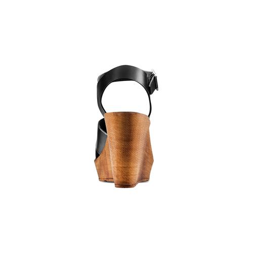 Sandali con zeppa bata, nero, 764-6226 - 15