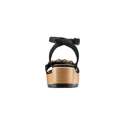 Sandali con zeppa bata, nero, 669-6353 - 15