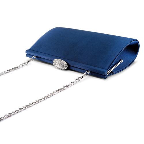 Pochette con tracolla bata, blu, 969-9320 - 17