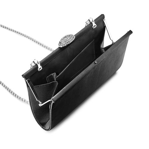 Pochette con tracolla bata, nero, 969-6320 - 16