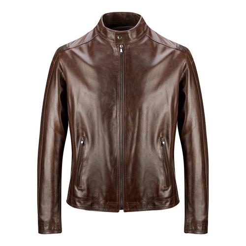 Giacca in pelle bata, marrone, 974-4134 - 13