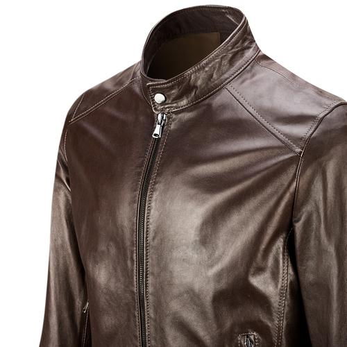 Giacca da uomo in pelle bata, marrone, 974-4154 - 15