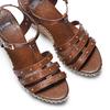 Sandali con borchie bata, marrone, 761-4235 - 26