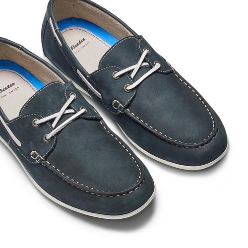 Scarpe da barca bata, blu, 856-9149 - 26