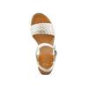 Sandali con zeppa bata, bianco, 761-1312 - 17