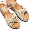 Sandali con fiocco bata, marrone, 763-3271 - 26