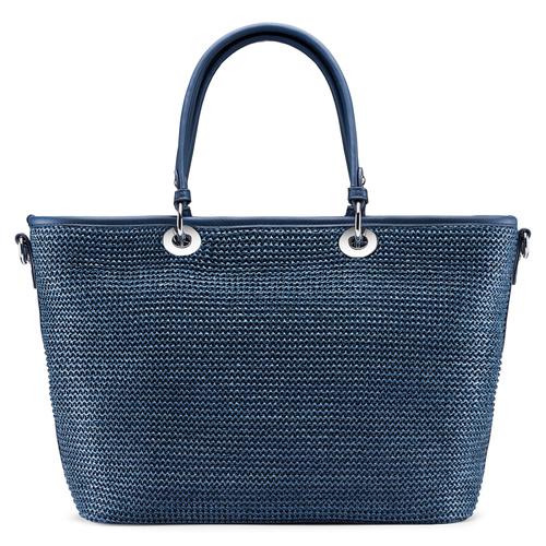 Shopper in rafia bata, blu, 969-9297 - 26