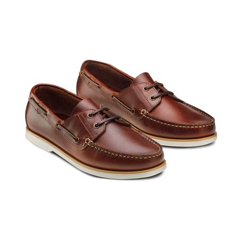 Scarpe da barca bata, marrone, 854-5174 - 16