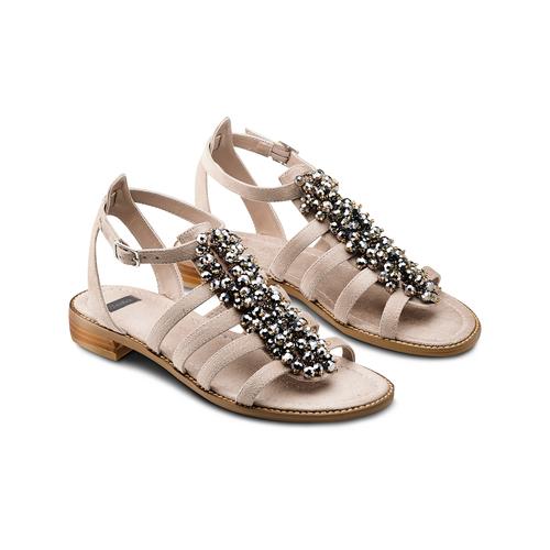 Sandali con perline bata, beige, 569-8206 - 16