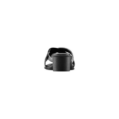 Ciabatte con strass bata, nero, 671-6129 - 15