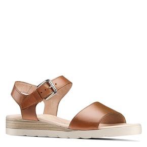 Sandali in pelle bata-touch-me, marrone, 664-3298 - 13