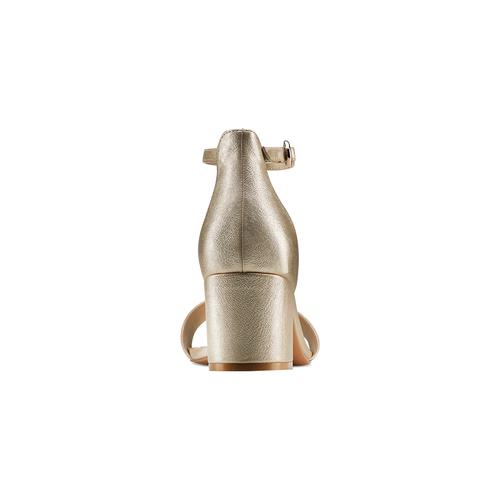 Sandali con tacco largo bata-rl, oro, 761-8334 - 15