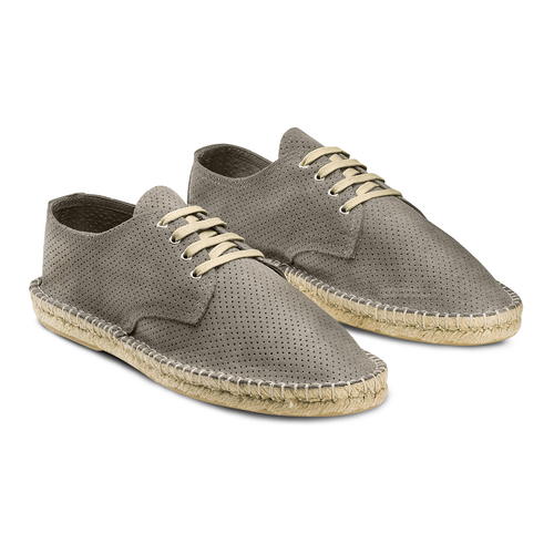 Stringate in suede bata, grigio, 853-2213 - 16