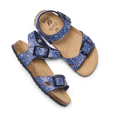 Sandali con stampa mini-b, blu, 261-9213 - 26