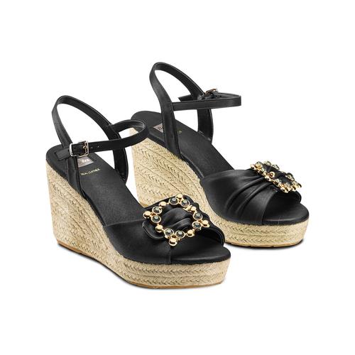 Sandali con applicazione bata, nero, 769-6237 - 16